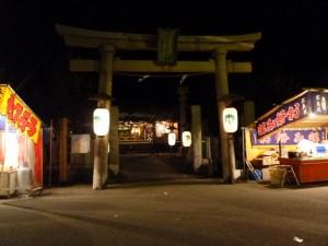夜の秋葉神社