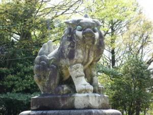 神門前の狛犬