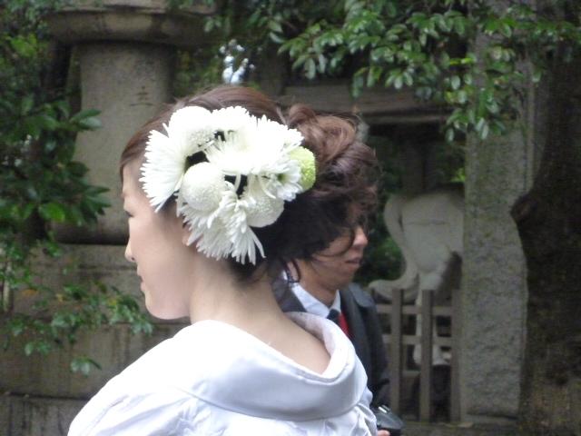 新婦さま髪飾り